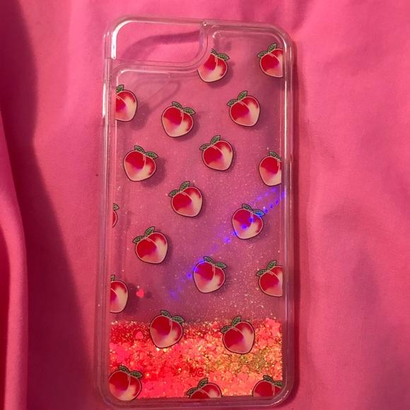 free shipping 1e090 676d9 velvet caviar peach glitter phone case